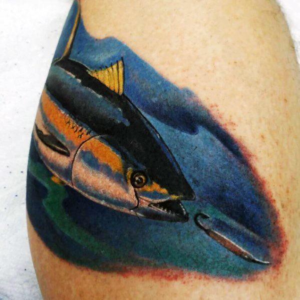 Guys Tuna Tattoo Design Ideas