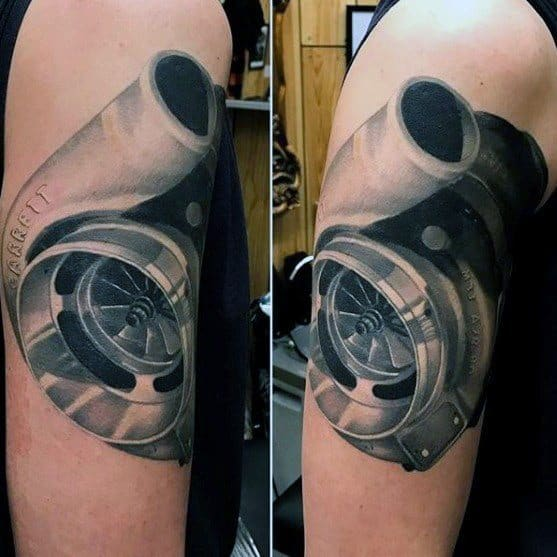 Guys Turbo Tattoo Design Ideas