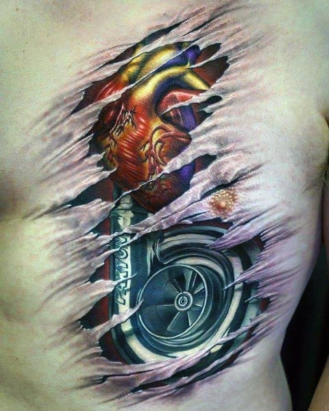 Guys Turbo Tattoos