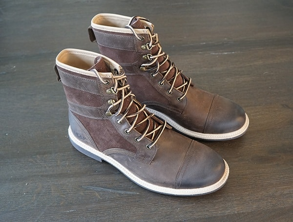 Guys Ugg Magnusson Burnished Full Grain Leather Boots