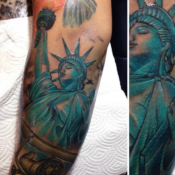 Guys United States Statue Of Liberty Tattoo