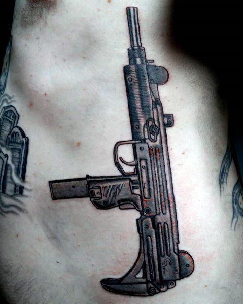 Guys Uzi Tattoo Design Ideas