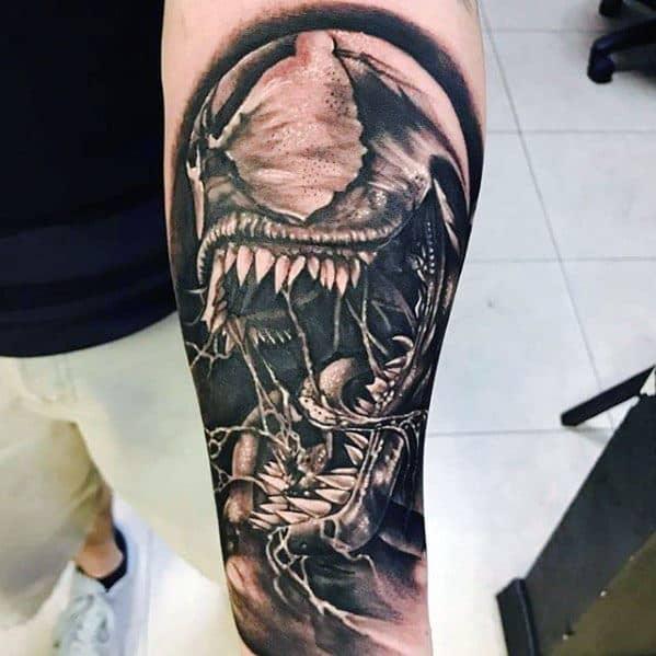 fc6e17cca 60 Venom Tattoo Designs For Men - Marvel Ink Ideas
