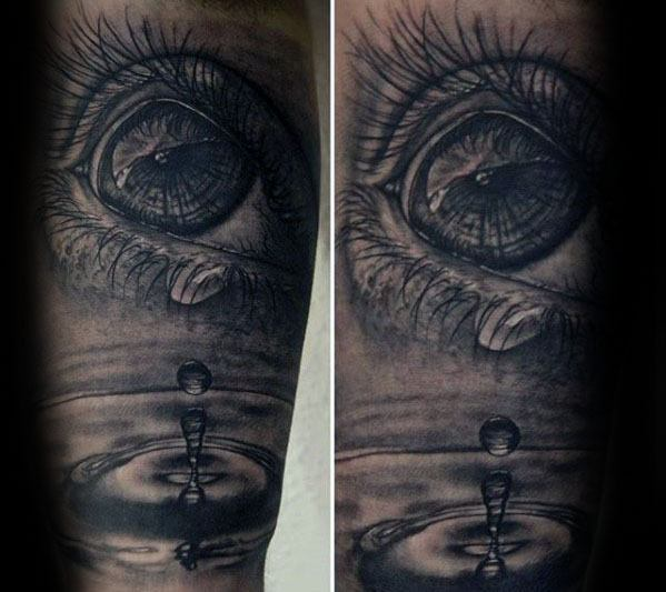 Guys Water Drop Tattoo Design Ideas