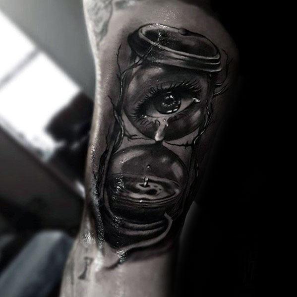 Guys Water Drop Tattoo Designs On Arm