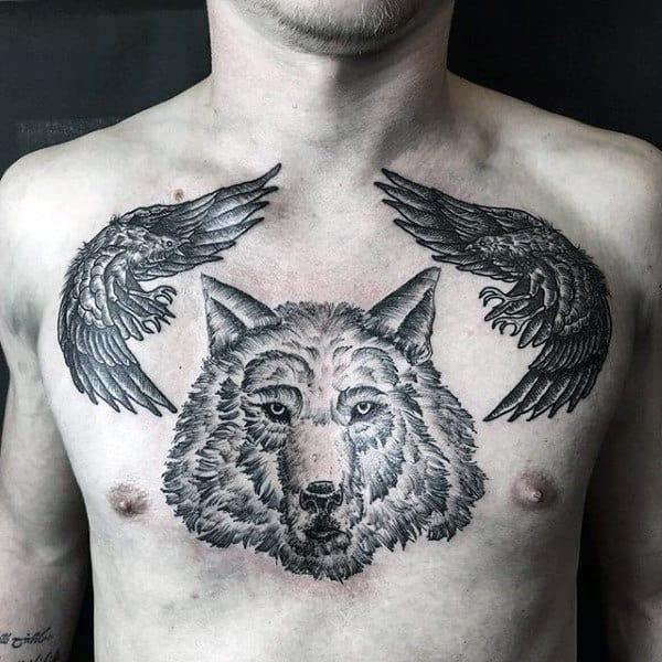 100 Crow Tattoo Designs For Men - Black Bird Ink Ideas