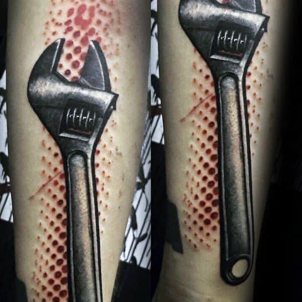Guys Wrench Tattoo Design Ideas