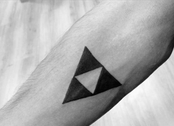 Guys Zelda Geometric Simple Forearm Tattoo
