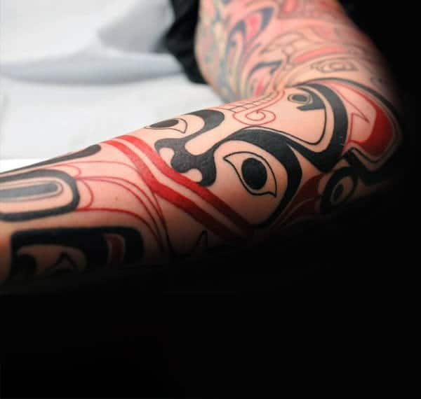 Haida Tattoo On Forearms Men