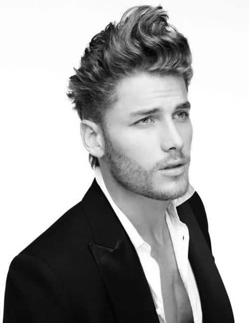 Hair Styles For Gentlemen With Medium Wavy Hair