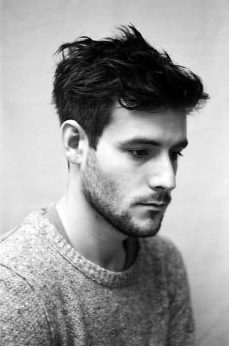 Hairstyles For Males Wavy Hair Medium Length