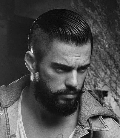 Slicked Back Hairstyles Shaved Side For Men