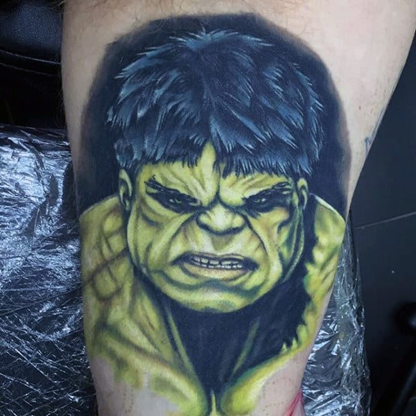 Hairy Hulk Tattoo Male Forearms