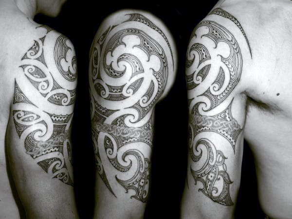 Half A Sleeve Tattoo For Men Tribal