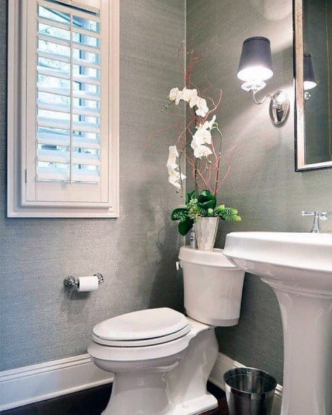 Half Bath Magnificent Textured Wall Design Ideas