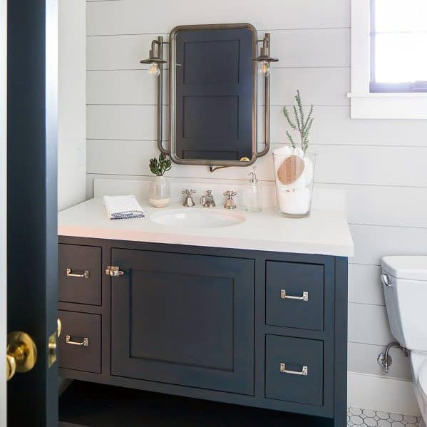 Half Bath Shiplap Wall Design Inspiration