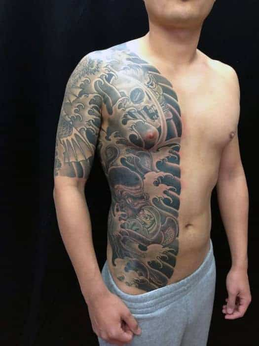 half-chest-guys-japanese-octopus-tattoos