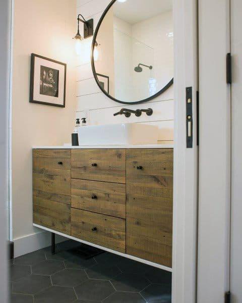 Half Rustic Bathroom Ideas