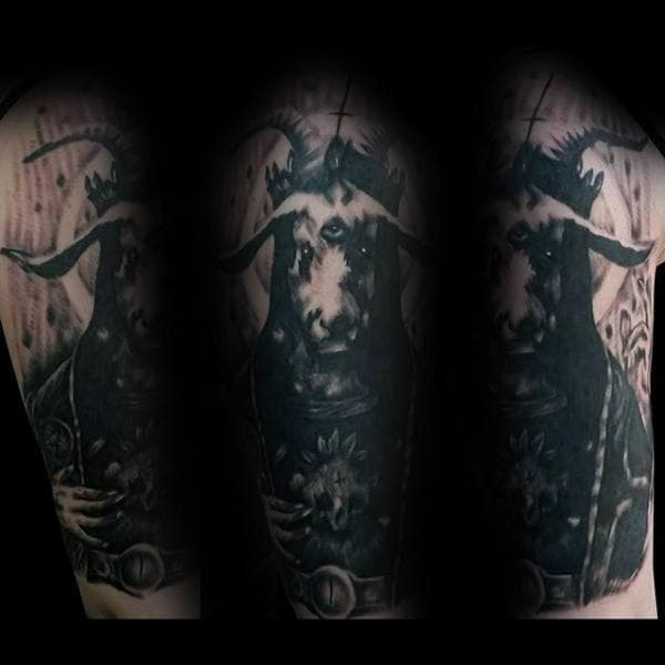 50 Baphomet Tattoo Designs For Men Dark Ink Ideas