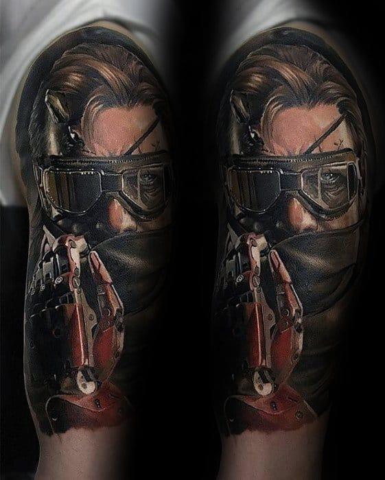 Half Sleeve Gamer Guys Tattoo Ideas