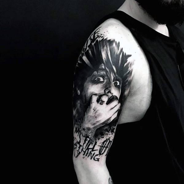 Half Sleeve Guys Green Day Tattoo Designs