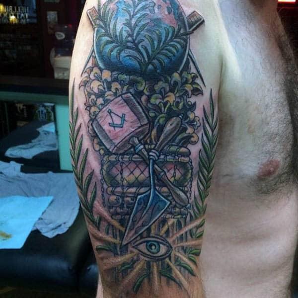 Ideas For Men Scottish Tattoo: 90 Masonic Tattoos For Men