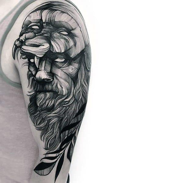 Half Sleeve Mens Cool Sketch Tattoo Ideas