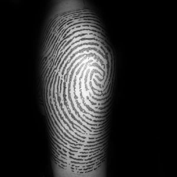 Half Sleeve Mens Fingerprint Tattoos