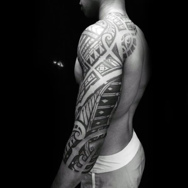 Half Sleeve Mens Tribal Tattoos