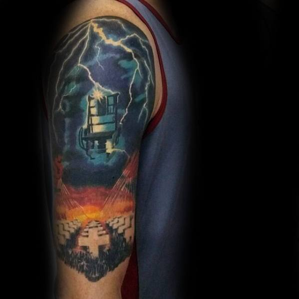Half Sleeve Metallica Guys Tattoos