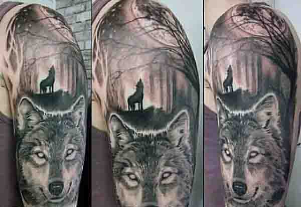 Half Sleeve Moon Tattoo Ideas For Men
