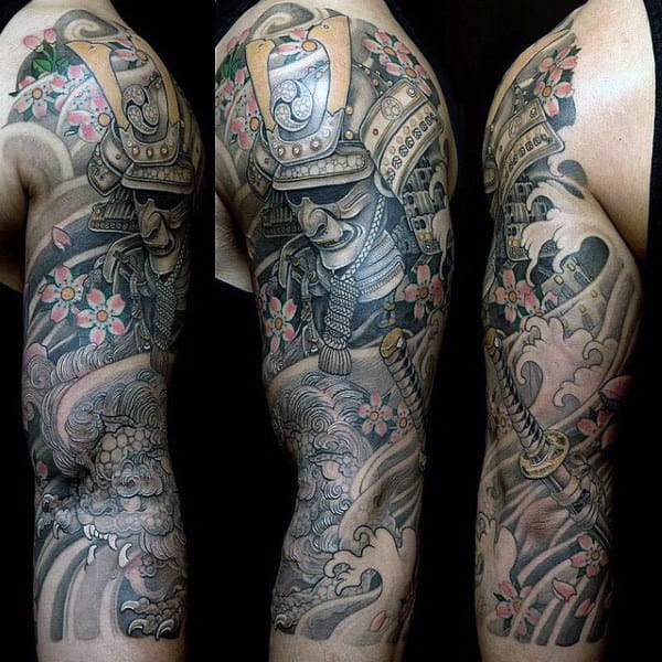 Half Sleeve Original Male Japanese Tattoo Ideas
