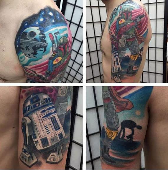 Half Sleeve Rd2d Male Tattoos