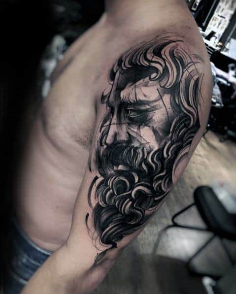 Half Sleeve Remarkable Sketch Tattoos For Males