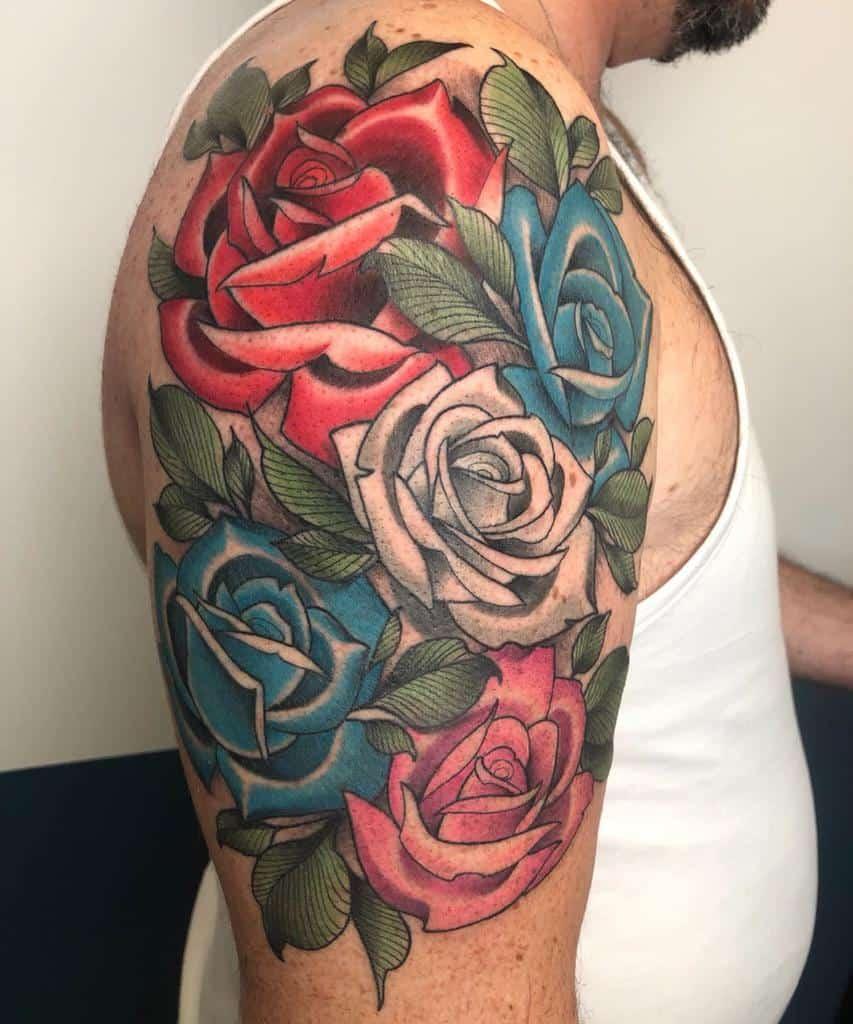half sleeve rose sleeve tattoos marco_knoxink