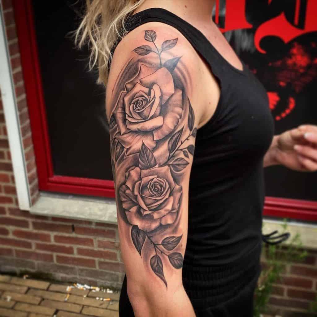 half sleeve rose sleeve tattoos tattoo_ess
