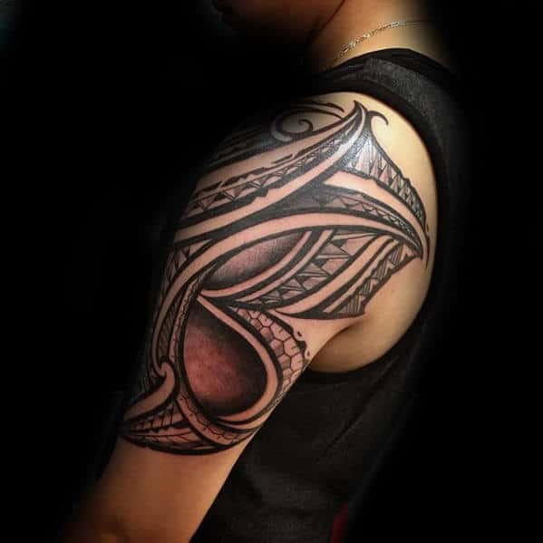 Half Sleeve Sick Tribal Tattoo Design Ideas For Gentlemen