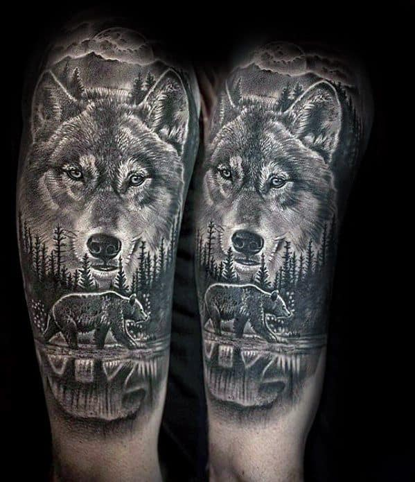 60 Sick Wolf Tattoo Designs For Men Manly Ink Ideas