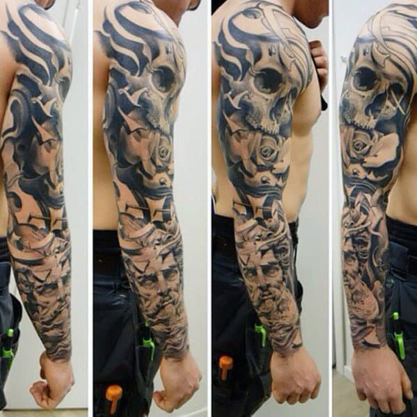 top 100 best sleeve tattoos for men cool designs and ideas. Black Bedroom Furniture Sets. Home Design Ideas