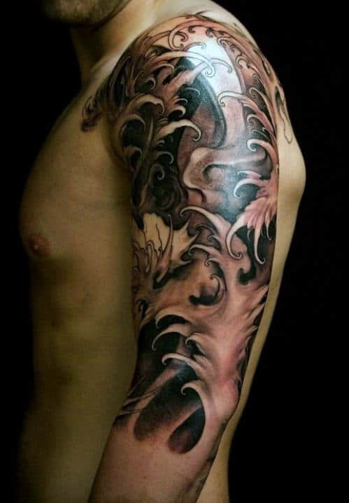 60 half sleeve tattoos for men manly designs and masterpieces. Black Bedroom Furniture Sets. Home Design Ideas
