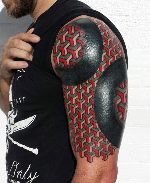 Shapes Half Sleeve Tattoos For Men Ideas