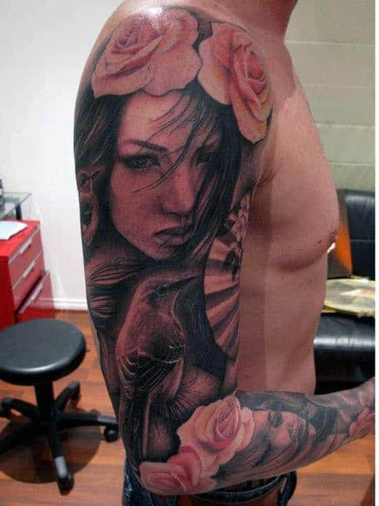 half-sleeve-tribal-tattoos-for-men