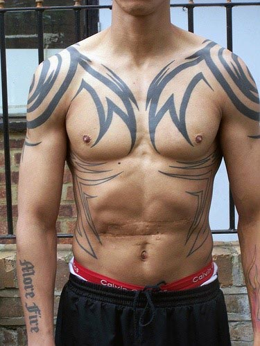 Half Sleeve Tribal Tattoos For Men