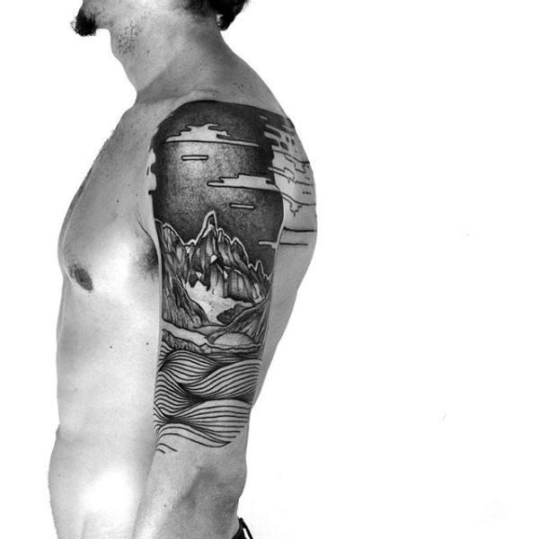 Half Sleeve Unique Guys Tattoo Designs
