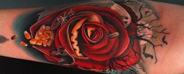 80 Halloween Tattoo Designs For Men – Ghoulish Grandeur
