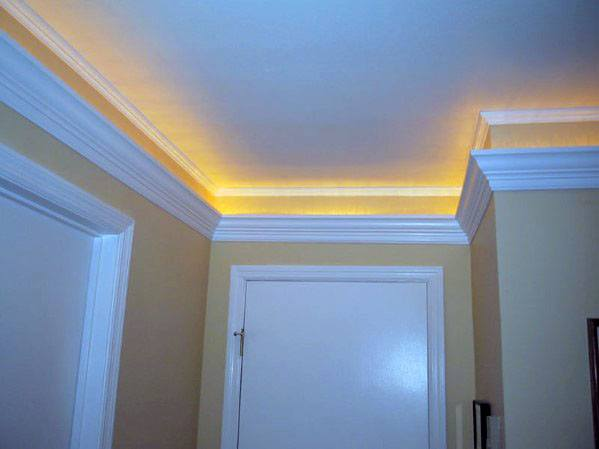 Hallway Home Design Ideas Crown Molding Lighting