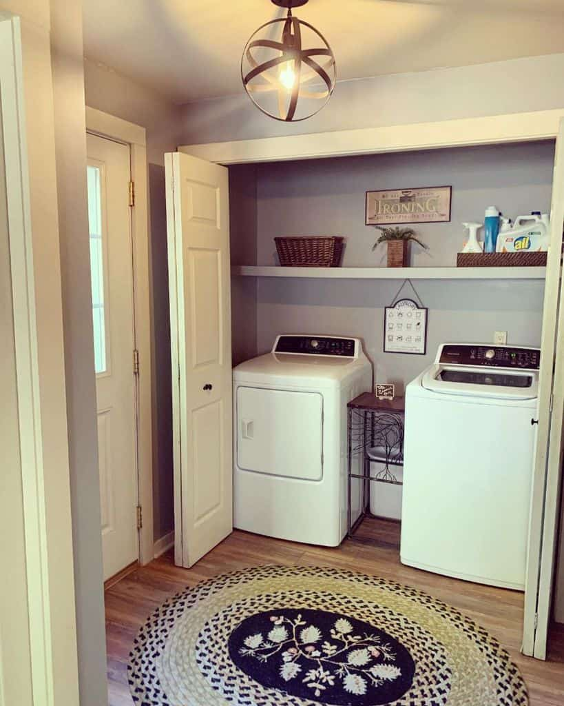 hallway laundry closet ideas gretatherealtor