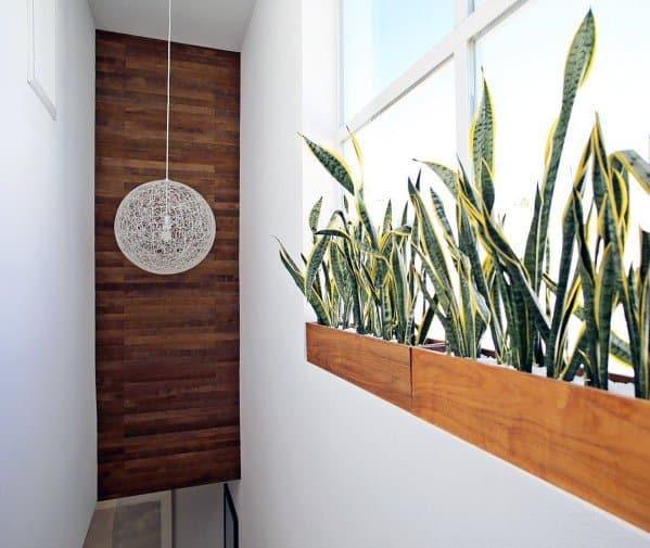 Hallway Staircase Wood Wall Ideas