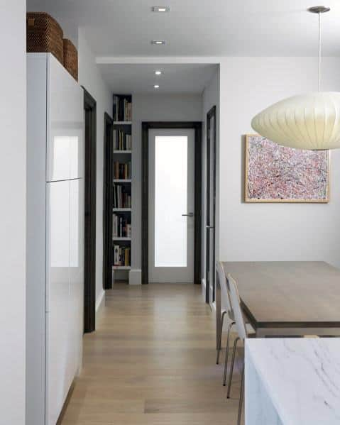 Hallway Unique Built In Bookcase Home Ideas