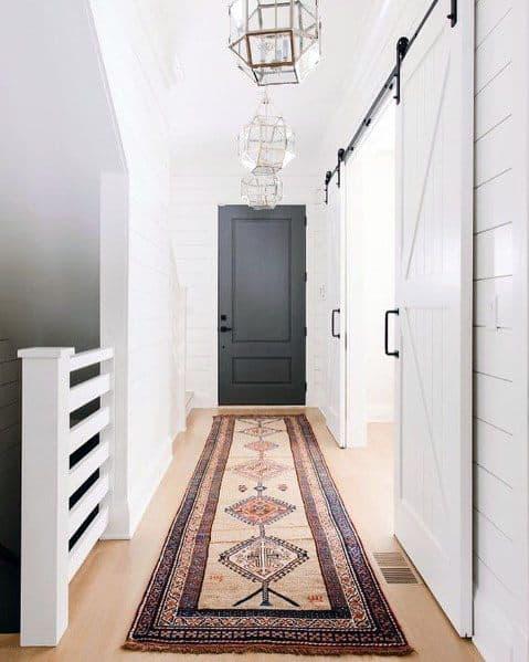 Hallway White Shiplap Walls Good Ideas For Barn Doors